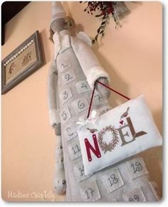"Free ""Noel"" cross stitch pattern by Madame Chantilly - site in Italian"