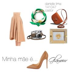 """""""danielel lima 141047"""" by polyanna-kb on Polyvore featuring Christian Louboutin, Unfleur and Hermès"""