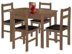 Conjunto de Mesa com 4 Cadeiras Mille - Fritz Móveis