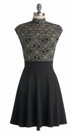 """Modcloth """"Glittering Gal"""" Black and Gold Dress Size Small #Modcloth #Cocktail"""