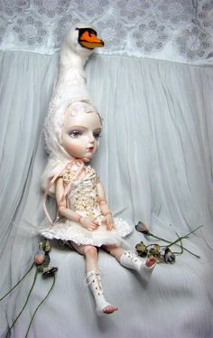 Doll Ooak Fast Deliver Blythe Custom Karin Cw Poupee In Pain