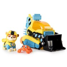 Paw Patrol Sea Patrol – Rubble's Transforming Sea Patrol Vehicle with Bonus Sea Friend - Baby Toys Paw Patrol Badge, Rubble Paw Patrol, Paw Patrol Toys, Learning Centers, Early Learning, Sea Crab, Paw Patrol Characters, Cool Toys, Baby Toys
