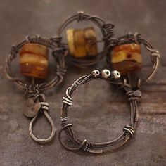 bracelet amber sterling silver by ewalompe on Etsy, $303.00