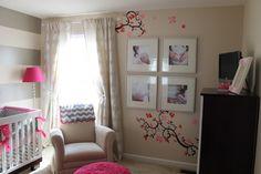 Project Nursery - Cherry Blossom Gray Girl Nursery Cherry Blossoms