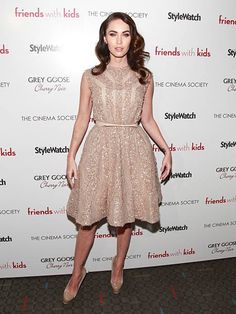 Actress Megan Fox attends the Cinema Society People StyleWatch with Grey Goose screening of 'Friends With Kids' at the SVA Theater on March 5 2012 in...