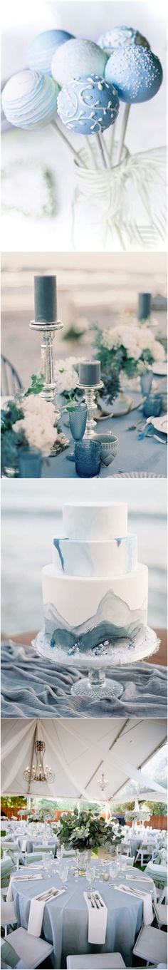 Wedding Colors » 2017 Wedding Inspiration: Dusty Blue Wedding Color Ideas » ❤️ More: http://www.weddinginclude.com/2017/08/wedding-inspiration-dusty-blue-wedding-color-ideas/