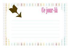 cartes project life en français gratuites