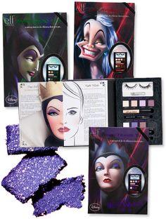 Disney villain inspired makeup by ELF, at Walgreens. I want!