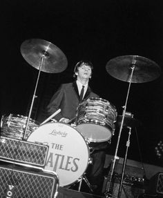 The Beatles performing in Forest Hills, New York. 28 August, 1964.