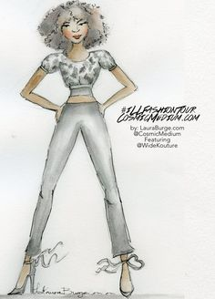 Featured Illustrated Fashion Blogger of Wise Kouture in the
