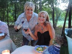 Here with my sister-in-law Christi, as my family all got together for dining al fresco, Italian food, wine and candlelight. Nothing like dining under the stars. Check out my blog with more photos at www.carolynwestbrookhome.com.  xo Carolyn