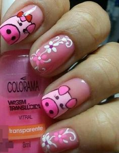 glitter pig nail art nail art ideas and inspiration