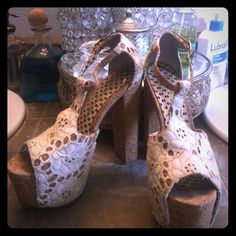 Jessica Simpson heels! These shoes are adorable! They are pretty worn though so I'm only selling them for 10 bucks! Jessica Simpson Shoes Heels