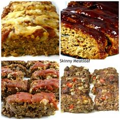 4 Skinny Meatloaf Recipes Everyone will Love!  All are easy to make and freeze perfectly. http://www.skinnykitchen.com/recipes/4-skinny-meatloaf-recipes-everyone-will-love/