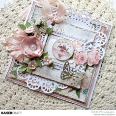 Have you seen the two beautiful October Kaisercraft Collections? Mint Wishes and Rose Avenue will keep you creating all month long! Shabby Chic Cards, Shabby Chic Homes, Shabby Chic Style, Shabby Chic Decor, Vintage Tags, Shabby Vintage, Shabby Chic Birthday, Handmade Birthday Cards, Handmade Cards