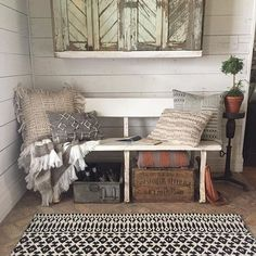 """We shot a lot of rugs and pillows today for my new Magnolia Home rug line with @loloirugs . Here's a fun fact about the line: I named a few of the collections after my kiddos. This rug is part of the """"Emmie Kay"""" collection and the throws are from the """"Duke"""" collection. At the end of the day, my children are my inspiration- I love getting to see glimpses of their personality in the things we create. It keeps things close to home."""