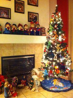 Bear Tree Christmas Tree, Bear, Holiday Decor, Home Decor, Teal Christmas Tree, Decoration Home, Room Decor, Xmas Trees, Bears