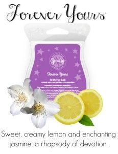 BARRE SCENTSY FOREVER YOURS Du citron douce et sucré avec du jasmin ravissant: une rhapsodie de dévotion #BougieParfumée #ParfumScentsyRomance #ScentsyFrançais