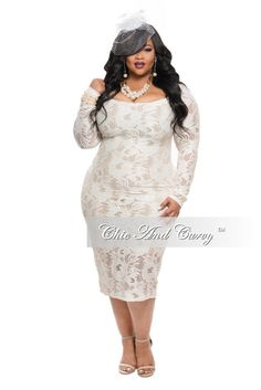 Plus Size BodyCon Dress with Choker in Red – Chic And Curvy | Chic ...