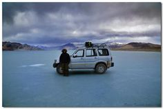 Frozen Pangong Tso (Tso:Ladakhi for lake), Ladakh, India