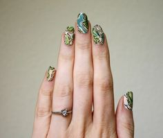 Topographic map nails