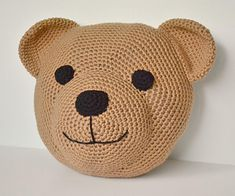 "Teddy Bear Pillow / CROCHET pattern for purchase / 11"" diameter"