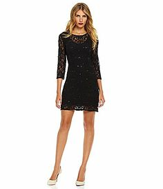 Chelsea and Violet Lace Sequin Dress #DillardsWearing this to Caleb and Abbie's wedding
