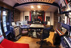 Recording Studio Control Room Fisheye Small by The Limehouse Recording Studio, via Flickr