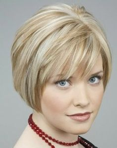 Short hairstyles can be great for round faces, because they can make the face shape more symmetrical with the rest of the body and provide length...