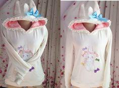 Trendy Sweet Lolita Punk Cute Kawaii Punk Gothic Rabbit Ear Shirt Blouse White #Ownbrand #Blouse