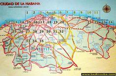 Mapa de Ciudad de la Habana en el año 1951
