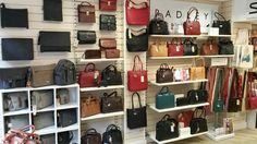 a WHOLE wall of Radley - choices, choices...