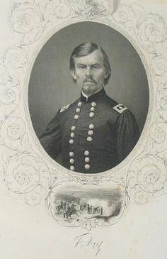 1862 Signed Engraved Photo Col Franz Sigel Officer Civil War Soldier Militaria