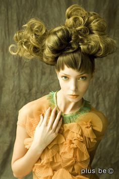 by Lori Novo Love Hair, Great Hair, Big Hair, Creative Hairstyles, Up Hairstyles, Fantasy Hair, Fantasy Makeup, Avant Garde Hair, Editorial Hair