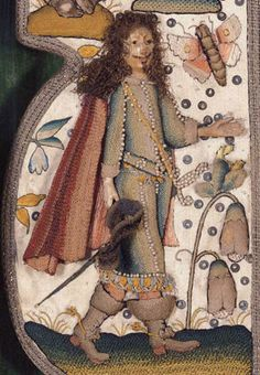 A RARE AND IMPORTANT RAISEDWORK AND NEEDLEWORK MIRROR   English, third quarter of the 17th c.
