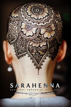 Henna for Healing SARAHENNA offers henna crowns free of charge. Henna has… Hena Designs, Henna Tattoo Designs, Mehndi Designs, Tattoo Ideas, Hair Tattoos, Henna Tattoos, Mehndi Art, Henna Mehndi, Tattoos