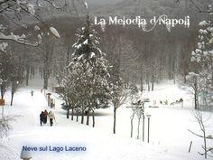Neve sul Lago Laceno. Campania
