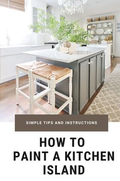 Looking for a simple idea to make a BIG difference in your kitchen? Why not paint your kitchen island? It takes and afternoon, it's a super affordable project and the impact is AMAZING. Kitchen island. Kitchen makeover. DIY kitchen. Kitchen decorating ideas.