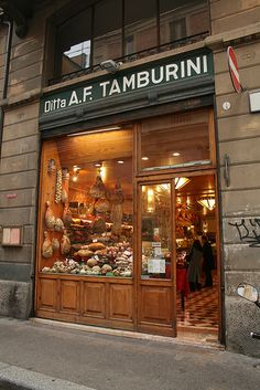 Tamburini is the main fresh food cafe within Bologna's food district, Quadrilatero that one must stop at if you visit this region of Italy. Tamburini! by old underthewaves