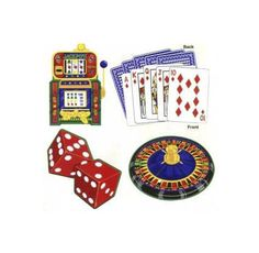 Vegas Casino Party Assorted Cutouts (Pkg./4) 18 Inches