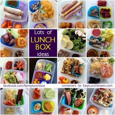 Lots of lunch box ideas for your @easylunchboxes
