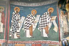 Orthodox Christianity, Christian Art, Kirchen, Color Pallets, Byzantine, Fresco, Saints, Painting, Serbian