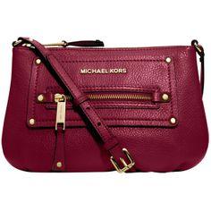 MICHAEL Michael Kors Gilmore Across Body Handbag , Cinnabar ($250) found on Polyvore