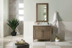"36"" Chicago Whitewashed Walnut Single Sink Bathroom Vanity"