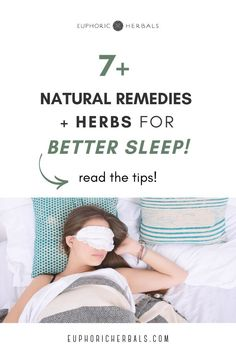 Dealing with sleeping problems and too much stress? Here are several natural remedies and herbs to try for better sleep and stress relief! Fall asleep faster and stay asleep with these tips for relieving stress and dealing with insomnia. From herbal teas to natural / herbal supplements, these tips for using herbs and natural remedies for sleep will have you snoozing in no time! Read the tips for better sleep in this post from Euphoric Herbals! Holistic Remedies, Holistic Healing, Natural Healing, Herbal Remedies, Natural Remedies For Allergies, Natural Sleep Remedies, Natural Health Remedies, Postpartum Recovery, Postpartum Care