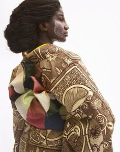 African print Kimonos by Cameroonian interior, industrial & fashion designer, Serge Mouangue