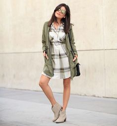 Another fall look from the blog today. Entire look is from @oldnavy fam! (minus the shades) I would totally re-wear all of these pieces again.  (Link in profile) @liketoknow.it www.liketk.it/1NPfg #liketkit #ootd #ontheblog #oldnavystyle #shirtdress
