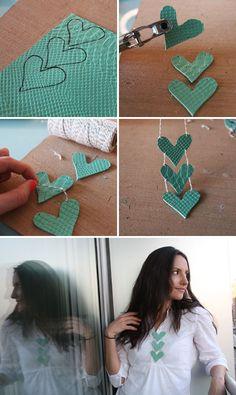 Chevron heart necklace tutorial #diy #valentines Must try! @ecrafty #ecrafty #diynecklaces #jewelrysupplies #neckcords