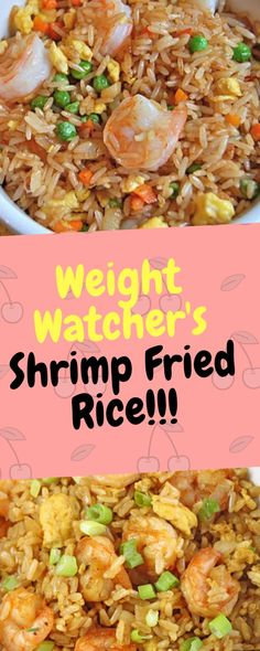 Weight Watchers Shrimp Fried Rice – One Of Recipe - Shrimp Recipes Healthy Rice Recipes, Shrimp And Rice Recipes, Shrimp Fried Rice, Ww Recipes, Seafood Recipes, Shrimp Meals, Healthy Food, Recipe For Fried Rice, Healthy Brown Rice Recipes