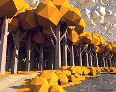 Autumn Low Poly by VickyM72.deviantart.com on @DeviantArt